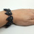 chainmaille bracelet, mens bracelet, mens wear, beaded jewelry