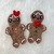Gingerbread Boy & Girl Applique Crochet Pattern- PATTERN ONLY - Instant Download