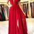 Sexy Sleeveless Red Vestidos De Fiesta Long Evening Prom Dresses