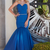 New Arrival Royal Blue Long Evening, Formal Tulle Mermaid Prom Dresses
