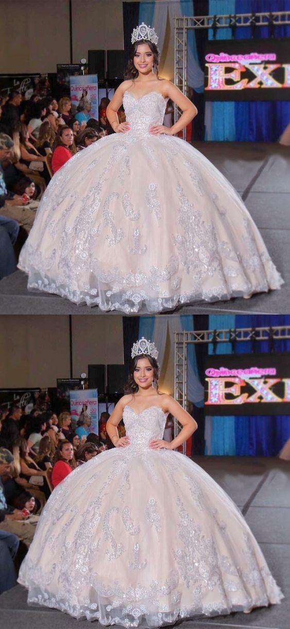 Elegant Appliques Long Wedding Dresses with Appliques, Formal Bridal Dresses,