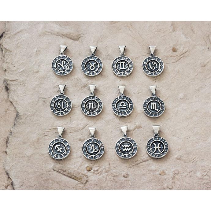 Zodiac Character Charm • Rotating Zodiac Charm • 925 Sterling Silver
