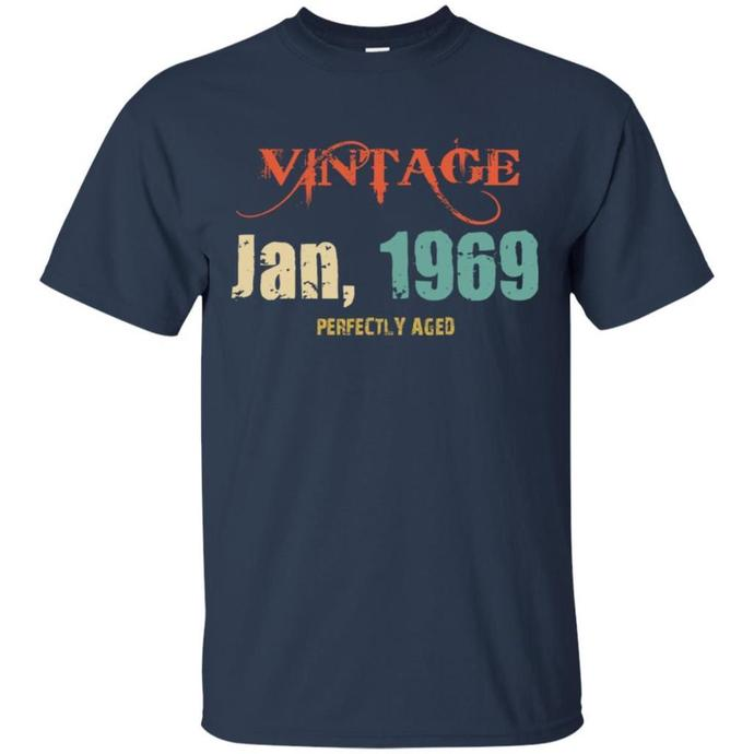 Vintage January 1969 RETRO Men T-shirt, January 1969 T-shirt, Vintage January