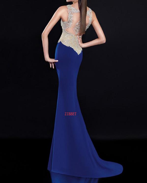 Chiffon V-neck Neckline Floor-length Sheath Evening Dresses with Beadings
