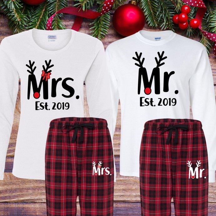 matching christmas pajamas adult christmas pajamas women mr and mrs