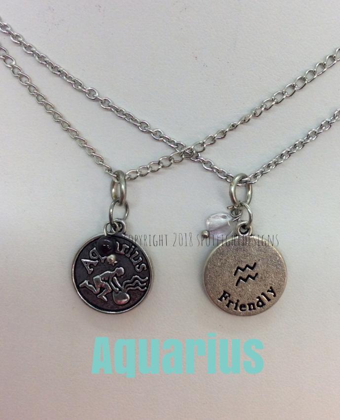 Zodiac Birthstone Charm Style Necklace