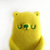 Popsicle Bear Lemon - needle felted Art Toy,  kawaii popsicle soft sculpture
