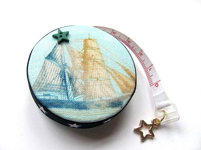 Tape Measure Tall Ships  Retractable Measuring Tape