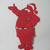Santa Claus Holding Bear Metal Cutting Die