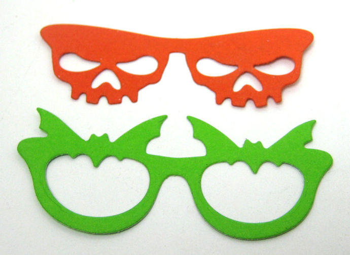 4pc Halloween Glasses and Mouth Metal Cutting Die Set