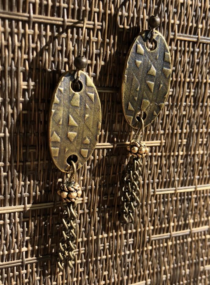 Brass Beauty Earrings