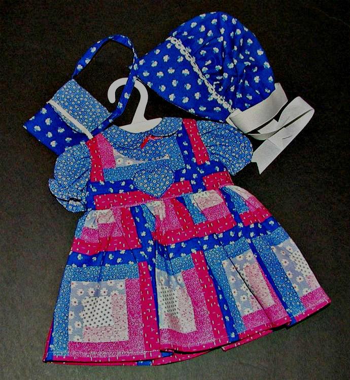 Old Fashioned Doll Dress 5 Piece Set