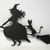 Witch and Cat on Broom Metal Cutting Die Halloween Die Cuts