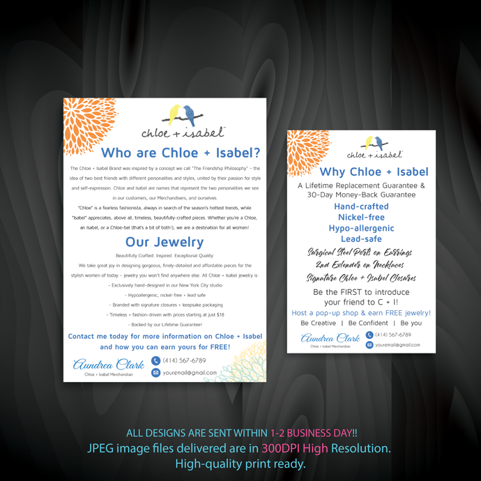 Who are Chloe and Isabel card, Why Chloe and Isabel Cards, Personalized Chloe