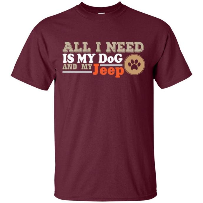 Jeep and Dog lovers Men T-shirt, Jeep and Dog Tee, Jeep Car T-shirt, Jeep and