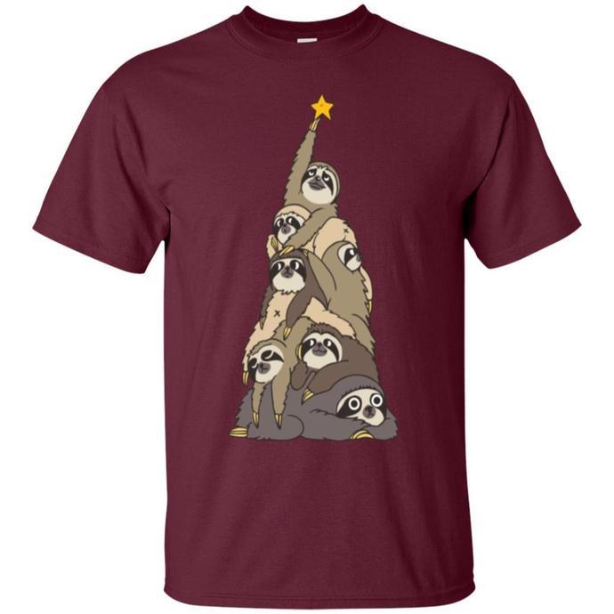 Christmas Tree Sloths Men T-shirt, Christmas Tree T-shirt, Sloths Men T-shirt,