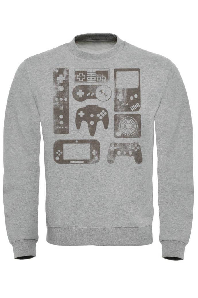 OLD SCHOOL GAMER Print Sweatshirt