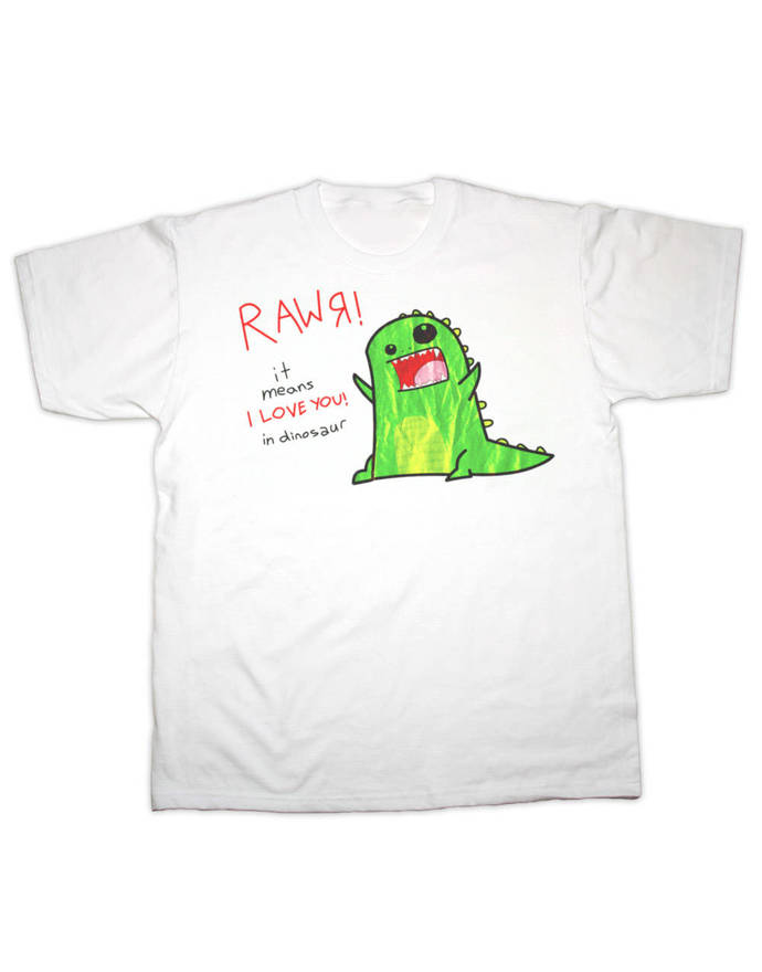 RWAR, Baby Dinosaur, It Means I Love You In Dinosaur Childrens T Shirt