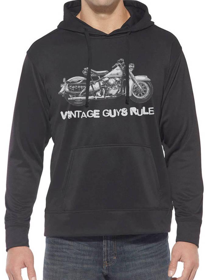 Vintage Guys Classic MOTORBIKE Hooded Sweatshirt