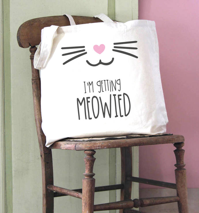 I'm Getting Meowied (Married) Cotton Shopper Tote Bag