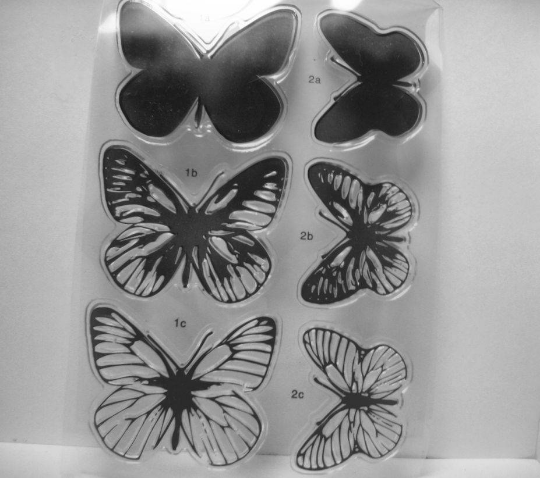Layered Butterfly Clear Stamp Set, 2 Different Sizes