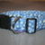 Snowflakes Blue Gold Christmas Adjustable Dog & Cat Collars & Martingales &