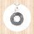 Sterling Silver. Circular Pendant with Cross Cutout and  Diamond Mandala Design.