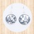 Sterling Silver Circular Earrings  with Winter Forest Scene