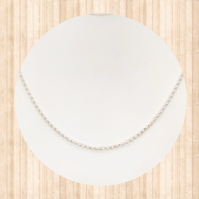 """Sterling Silver 16"""" Rolo Chain Necklace"""