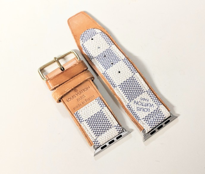 Repurposed Louis Vuitton azur watch band - Louis Vuitton watch band - LV watch