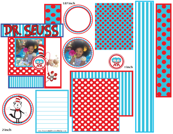 SET 2   Scrapbook Art Journal Junk Journal- Layout printable embellishments