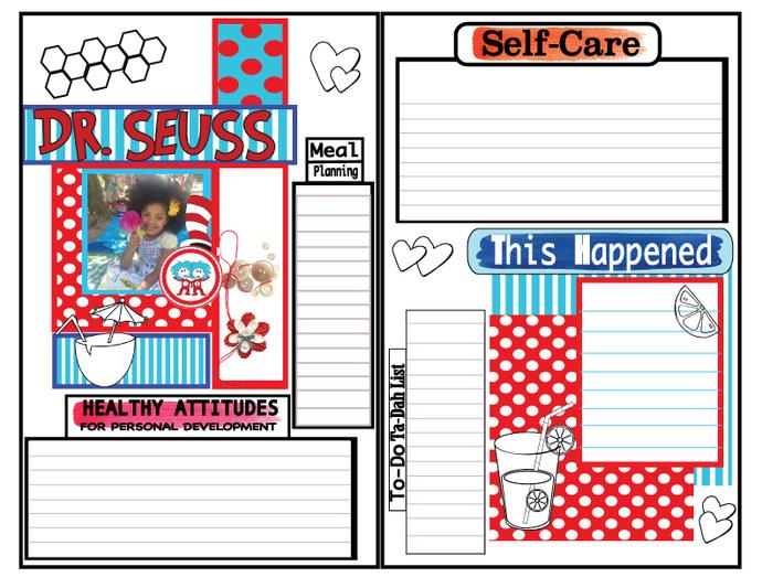 Custom Order for JESS PART  Scrapbook Art Journal Junk Journal- Layout