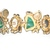 Signed Alice Caviness Vintage Flawed Emerald Green Parure 1950s Era