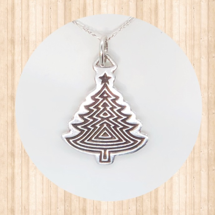 Sterling Silver Christmas Tree Pendant.