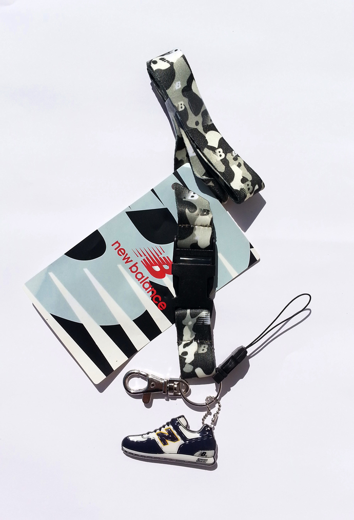 New Balance Cell Phone Lanyard Strap With 2-D Shoe (NAVY) - New w/ Tag