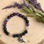 Amethyst and Hemitite beaded bracelets with Oil Diffusing beads and Fairy Charms