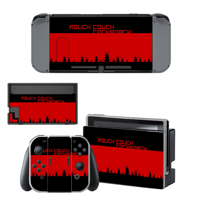 Red color Nintendo switch skin