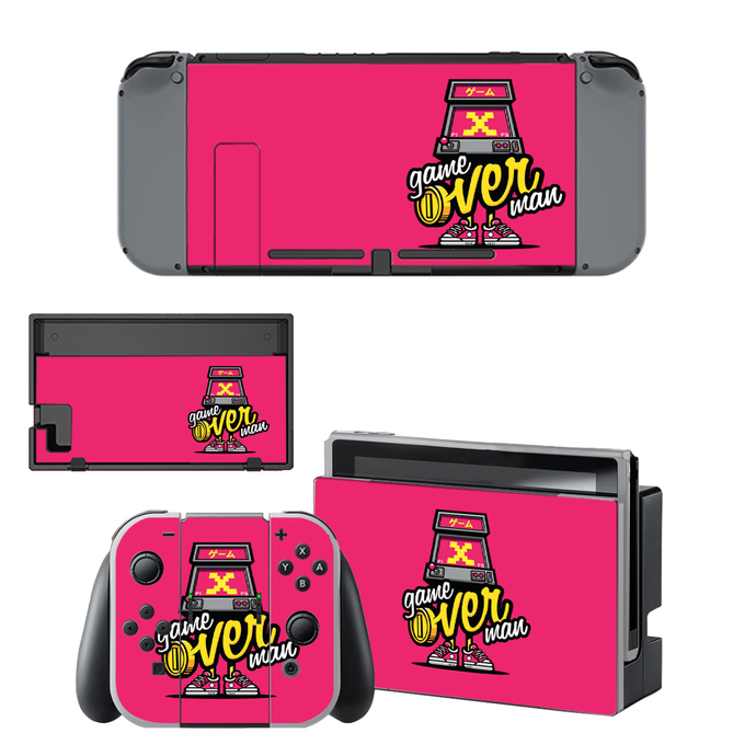 X game over Nintendo switch skin for Nintendo switch console