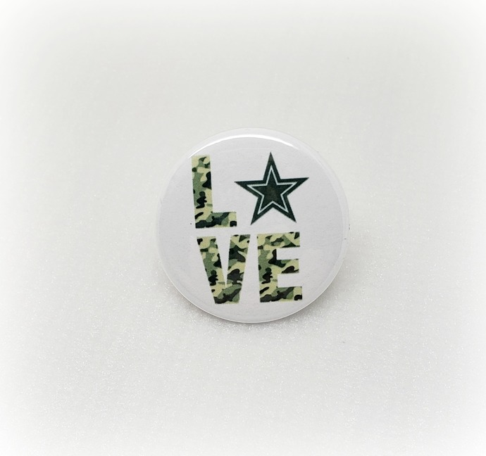 Army Love - Misc - Pinback Button Magnet Keychain Flatback Badge Reel 1.5 inch -