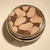 Pill box - Round - Butterflies - Brown with glitter