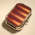 Pill box - Rectangle - Brown and Orange stripes