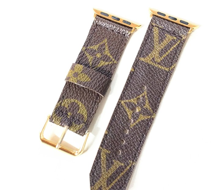 Altered LV watch band, Repurposed Louis Vuitton monogram watch band, LV watch