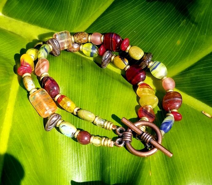 Autumn Winds Double Strand Bracelet