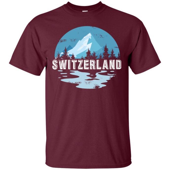 578213f669cb Switzerland Mountain Men T-shirt