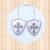Sterling Silver Shield Dangle Earrings with Fleur Cross