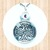 Sterling Silver Circular Pendant with Celtic Cross and 4mm Swarovski Round