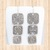 Sterling Silver Rounded Square Drop Earrings with Three Connected Charms