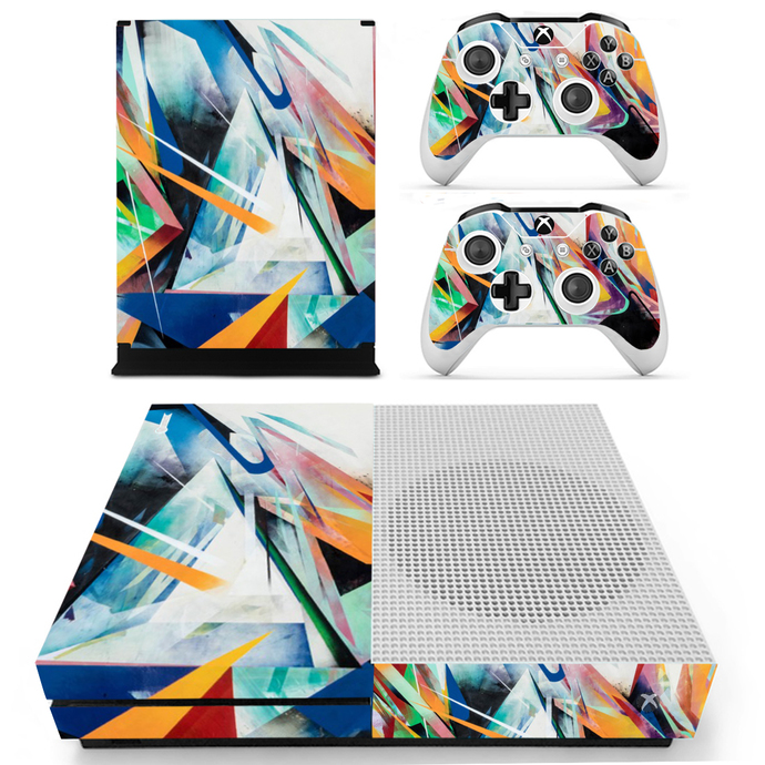 Tech wallpaper Xbox one S Skin for Xbox One S Console and 2 Controllers