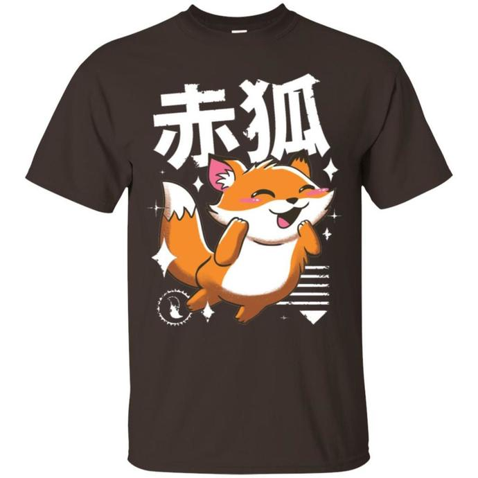 Kawaii Fox Men T-shirt, Kawaii T-shirt, Kawaii Fox Tee, Fox T-shirt, Kawaii Fox