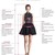 Modest short lilac knee length party dresses, bridesmaid dresses